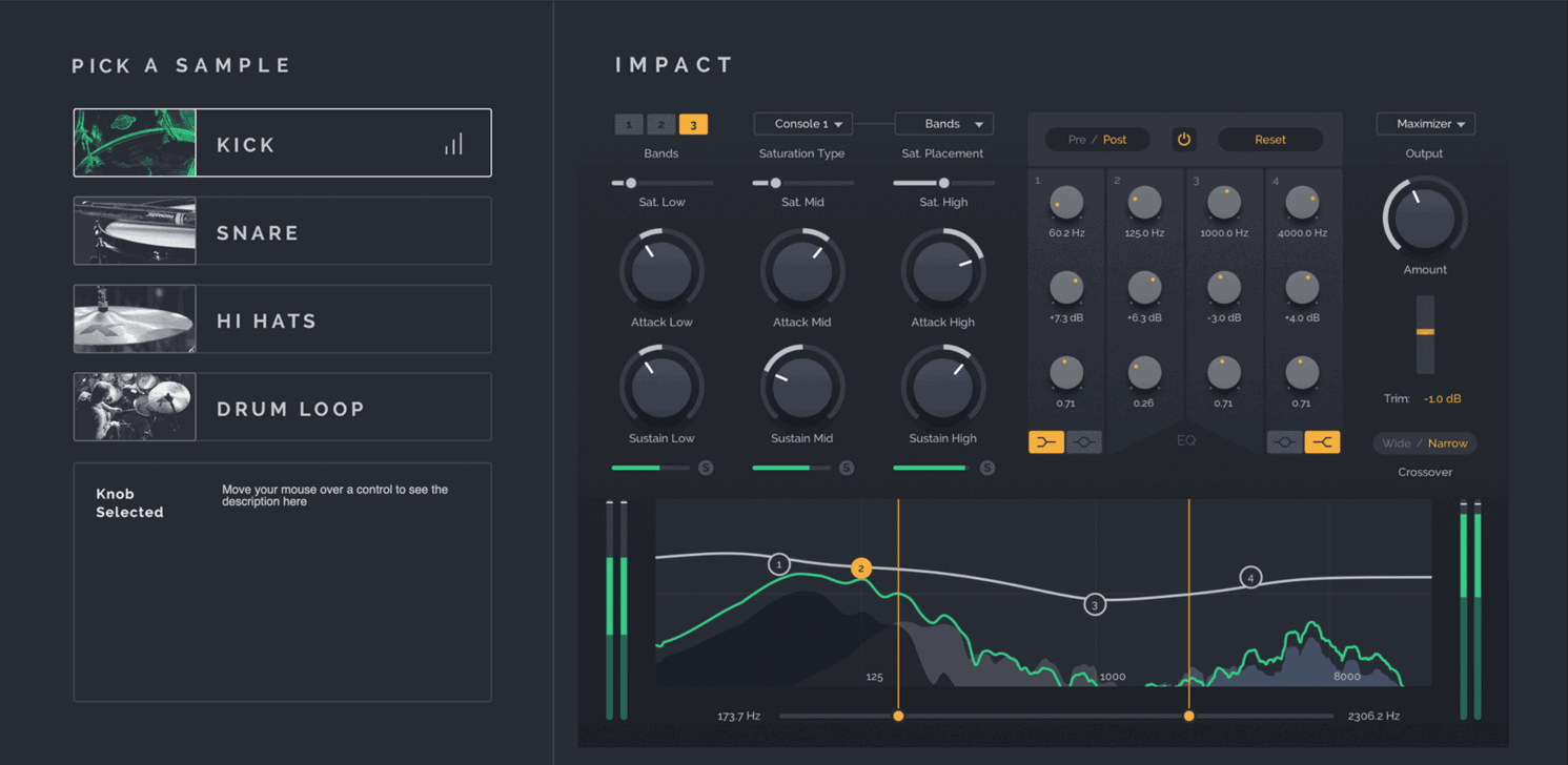 Impact is the more advanced transient shaper plugin by Surreal Machines.