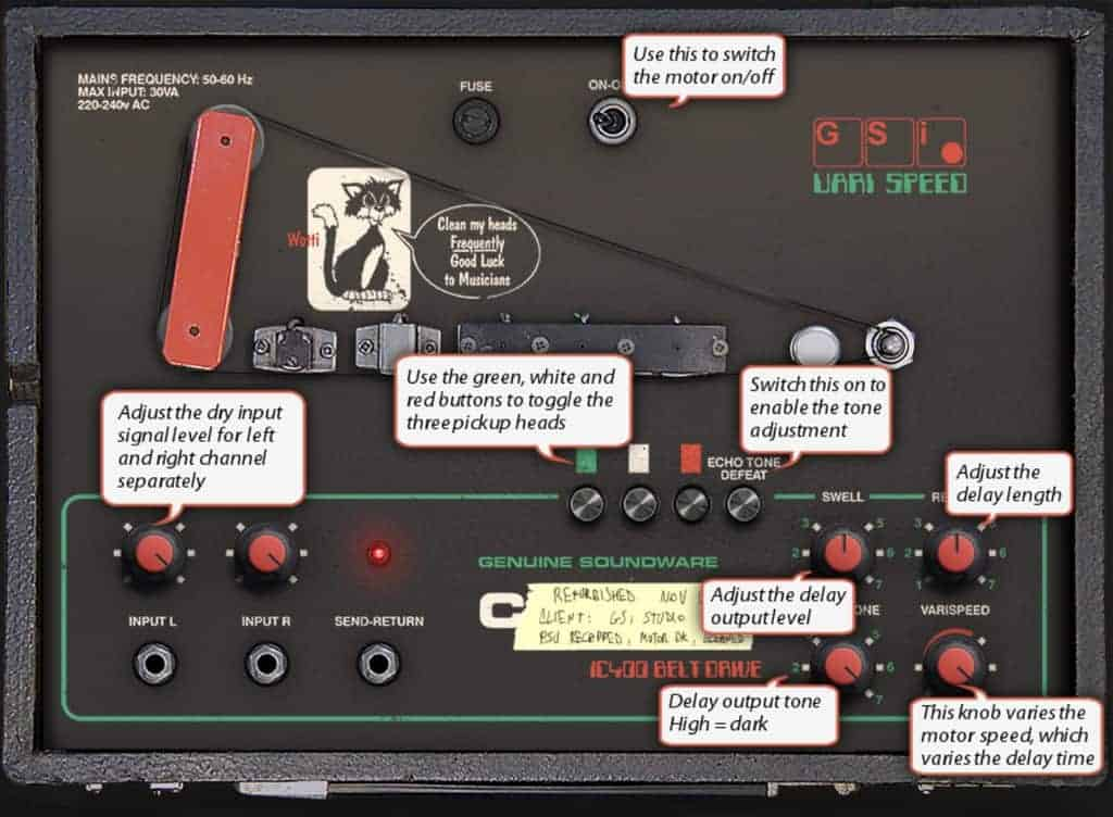 GSi VariSpeed features a help overlay which describes each control.
