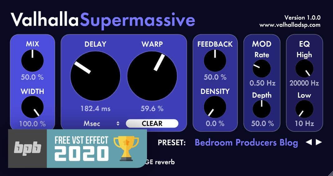 Free VST Plugins 2020: Valhalla Supermassive