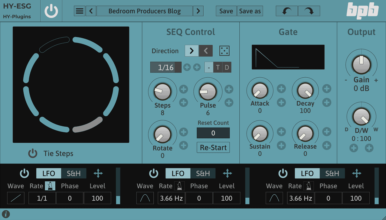 HY-ESG is a free gate sequencer by HY-Plugins.