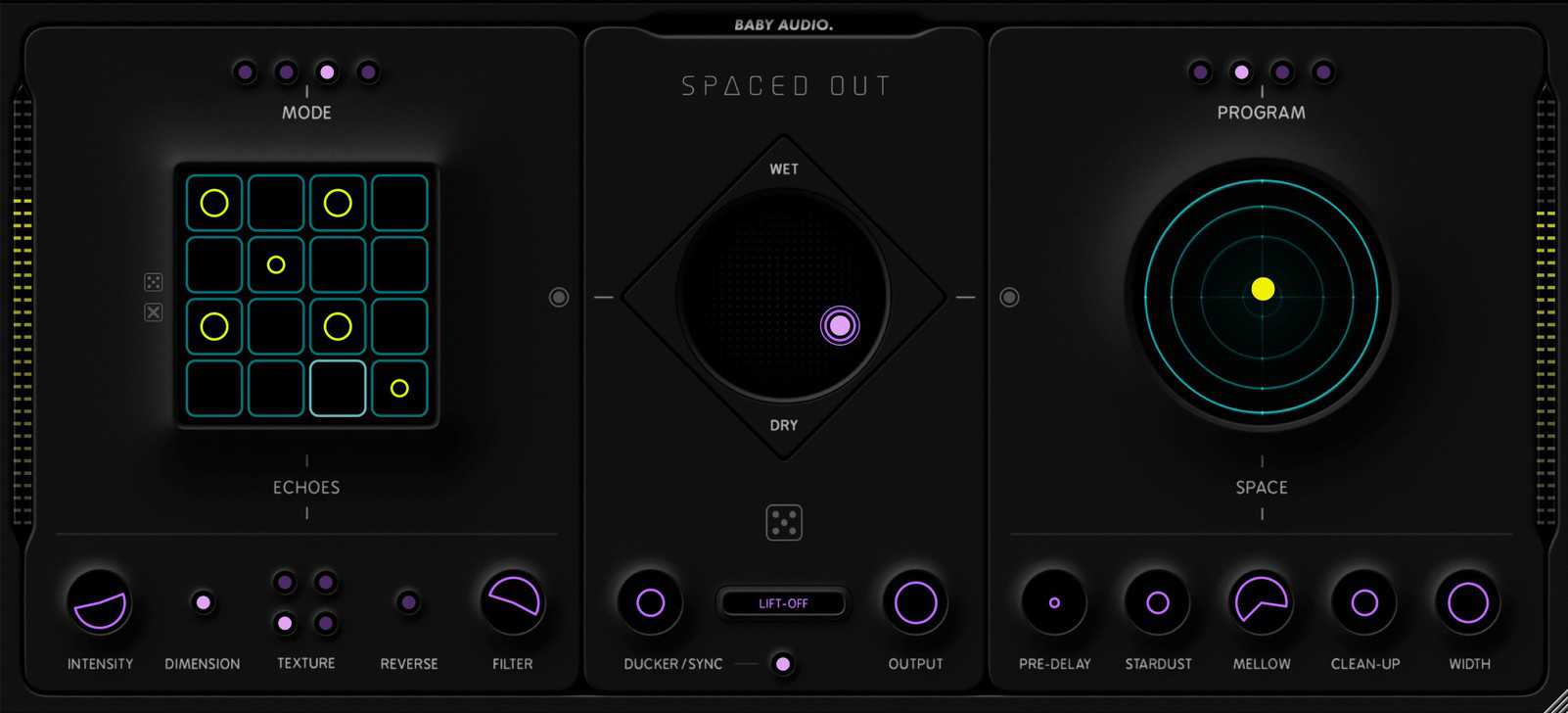Spaced Out's dark skin is the perfect fit for those late night mixing sessions.