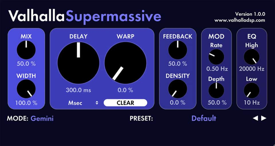 Valhalla Supermassive by ValhallaDSP