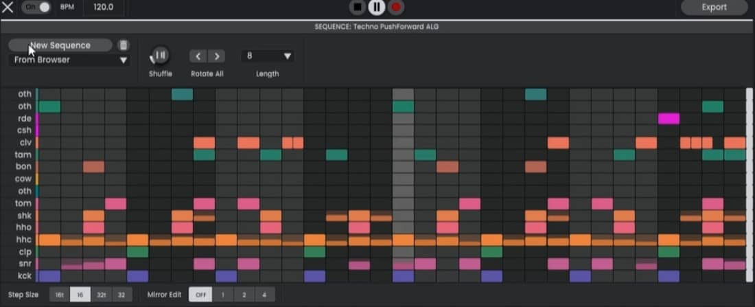 Atlas 2 features a capable drum sequencer.